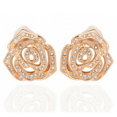 Cercei Borealy Rose Goldy CLIPS - Cercei placati cu aur