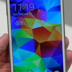 Samsung S5 + Husa noua - Telefon mobil Samsung Galaxy S5, Alb, 16GB, Neblocat, Single SIM