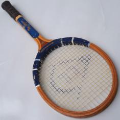 RACHETA VINTAGE DE TENIS DE CAMP - MARCA DUNLOP - TOM OKKER - CADRU DIN LEMN - Racheta tenis de camp Dunlop, Adulti