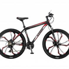 """Bicicleta MTB Umit Accrue HYD , Cadru 18"""" , 21 Viteze , Culoare Negru/Rosu RoataPB Cod:2757018000"""