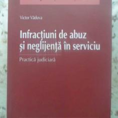 Infractiuni De Abuz Si Neglijenta In Serviciu. Practica Judic - Victor Vaduva, 415889 - Carte Drept penal