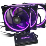 Ventilatoare Segotep Halo Ring RGB, 120mm, Kit 3 ventilatoare (LED RGB) - Ventilator