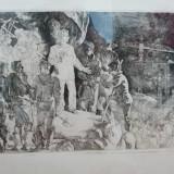 Gravura Penda Ion Octovian, Portrete, Grisaille, Realism