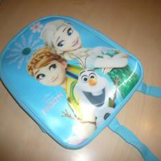 Ghiozdan Ana si Elsa pentru gradinita, Albastru