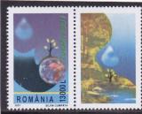 ROMANIA 2001  LP 1550 a  EUROPA  2001  SERIE CU VINIETA  DREAPTA MNH, Nestampilat