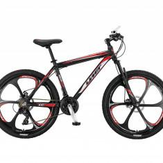 """Bicicleta MTB Umit Accrue 2D , Cadru 18"""" , 21 Viteze , Culoare Negru/Rosu Roata PB Cod:2656000000, 26"""