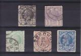 ROMANIA 1885/88 LP 42 CAROL I VULTURI  HARTIE ALBA  SERIE STAMPILATA, Stampilat