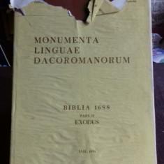 MONUMENTA LINGUAE DACOROMANORUM. BIBLIA 1688. PARTEA II. EXODUS