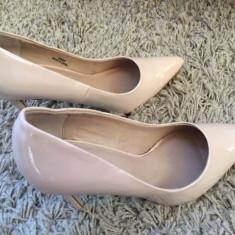 Pantofi stiletto Asos - Pantof dama Asos, Culoare: Nude, Marime: 37, Cu toc