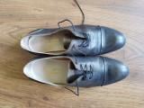 Pantofi Oxford italieni, 37 -- 37,5, Din imagine, Cu talpa joasa