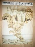 Afis cu Piesa  Mizantropul - Moliere -la Teatrul Bulandra 1989 ,dim.=95,5x68 cm