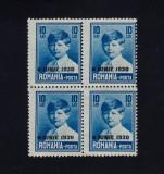 ROMANIA 1930 REGELE MIHAI COPIL 10 LEI FORMAT MARE  SUPRATIPAR  BL 4 - MNH, Nestampilat