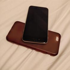 Vand iPhone 6 Apple (cu husa, sticla de protectie si casti originale), Argintiu, 16GB, Neblocat