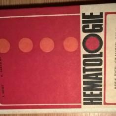 Hematologie - Manual pentru licee sanitare, anul V - T. Hossu; M. Parascan (1971