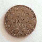 50 BANI 1894- ARGINT-CAROL I REGE