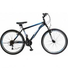 "Bicicleta MTB Umit Kronos V , Culoare Negru/Albastru Roata 26"", OtelPB Cod:26471000001, 21"