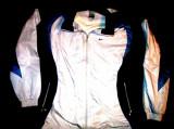 Bluza trening Nike alb cu bleumarin, material fas, lungime 75 cm, latime 60 cm, XL, Negru