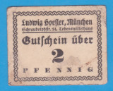 (2) NOTGELD GERMANIA - FIRMA PRIVATA LUDWIG SVEFLER DIN MUNCHEN - 2 PFENNIG