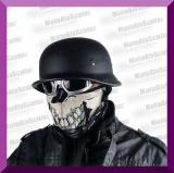 CASCA MOTO CHOPPER NAZY German Style Neamt WW2 Negru Mat