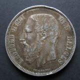 Belgia - 5 Francs 1875 - Argint, Europa