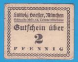 (3) NOTGELD GERMANIA - FIRMA PRIVATA LUDWIG SVEFLER DIN MUNCHEN - 2 PFENNIG