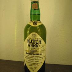 Whisk Match blended 100% scotch whisky, malt grain, 5 ani, cl.75 gr. 43 ani 60