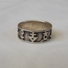 INEL argint EGIPT 1900 tip verigheta multiple Simboluri EGIPTENE vintage RAR