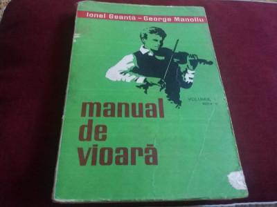 IONEL GEANTA - MANUAL DE VIOARA VOL 1 1979 foto