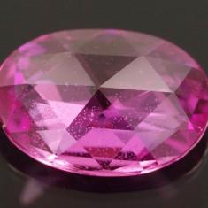 ~>> SAFIR NATURAL ROZ- VIU FRUMOS 0,76 ct. oval hexagon - dim. 7 x 5 mm ! !
