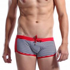 Slipi de baie barbati tip boxer - Desmiit Sailor - marimea M - Slip barbati, Marime: M, Culoare: Rosu