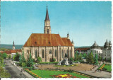(A) carte postala(1138/1)-KRUGER-Cluj-Catedrala Sf.Mihail, Circulata, Printata