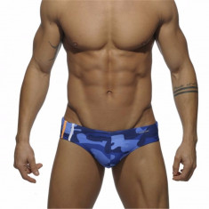 Slipi barbati ADDICTED Blue Camouflage marimea XL (34-36) - Made in Spain - Slip barbati, Culoare: Din imagine