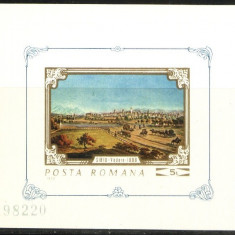 ROMANIA 1970 - PICTURA SIMTURILE, colita nestampilata NDT, N15