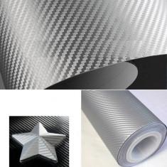 Rola folie imitatie carbon texturat Gri 10M x 1.52M COD (17-2)