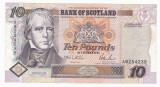 SCOTIA 10 lire sterline 1995  VF Bank of Scotland P-120a