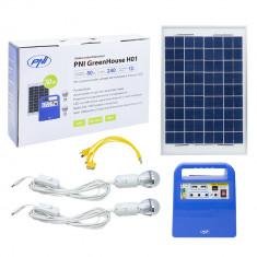 Resigilat : Sistem solar fotovoltaic PNI GreenHouse H01 30W cu acumulator 12V/7Ah,