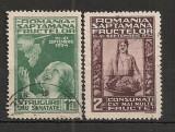 Romania 1934 - EXPOZITIA FRUCTELOR, serie stampilata, F100