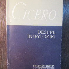 DESPRE INDATORIRI-CICERO