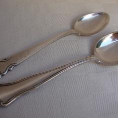 Doua lingurite vechi suedeze, una placata cu argint marca Hallbergs