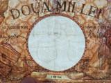 ROMANIA 2000 LEI 2 MAI 1944 FILIGRAN BNR IN SCUT VF
