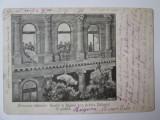 Rara! Carte postala:aruncarea cadavrelor Regelui si Reginei Serbiei,circul.1903, Circulata, Printata, Romania 1900 - 1950