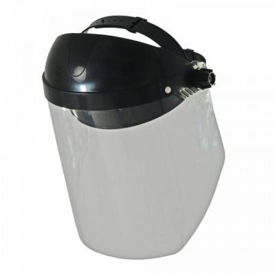 Masca protectie fata cu viziera transparenta , Flip-up , prindere clichet , Dedra 24 cm foto