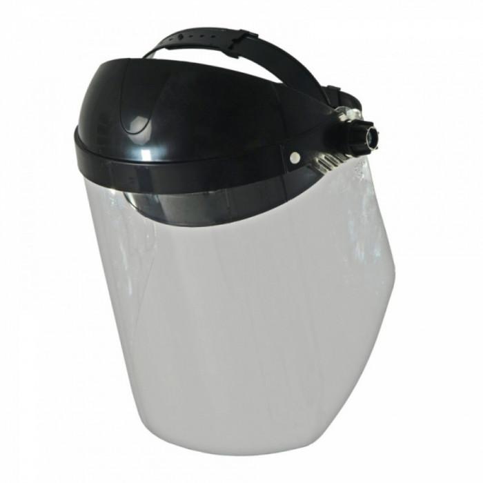 Masca protectie fata cu viziera transparenta , Flip-up , prindere clichet , Dedra 24 cm foto mare