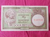 ROMANIA 20 LEI 1947, 1948, 1950 XF SIGN LUCA, RUBICEC FILIGRAN RPR DE JOS IN SUS