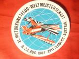 Eticheta adeziva- Concurs de Aviatie 1982 -Spitzerberg Austria