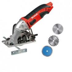 Mini Fierastrau circular Einhell TC-CS 860 kit, 450W, 6000 RPM, 3 discuri