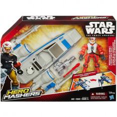 Star Wars Hero Mashers Episode VII Resistance X-Wing and Resistance Pilot, figurine, dimensiune 12 inch - Figurina Desene animate