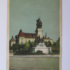 C.P.Bucuresti 1932-Statuia Bratianu si Ministerul Domenii, Circulata, Printata