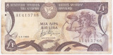 Cipru 1 lira Pound 1994 - starea din imagine