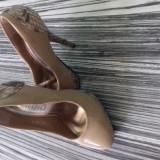 Incaltaminte dama - Pantof dama, Culoare: Bej, Marime: 35 1/3, Cu toc